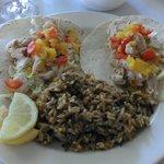 Fish tacos & wild rice