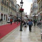 Una vista del paseo Marques de Larios desde la Plaza