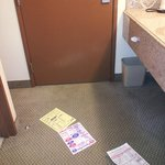 Flyers on the floor of the room