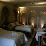 cave room beds.