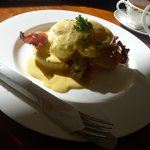 Best egg benedict ever, please do not judge by this photo as its badly taken