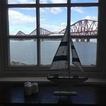 view of the forth rail bridge from the front entrance window