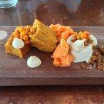 Icelandic Skyr Mousse...buckthorn berry, carrot, lemon