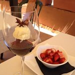 """The Wine Glass of Wonderment that was the dessert described as """"Chocolate cake"""" - utterly wonder"""