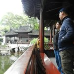 Harris and my wife at the Yu gardens - beautiful location, very interesting bazar outside too.