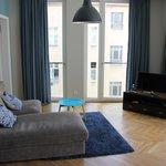Open plan kitchen - living room