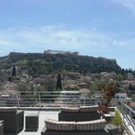 The Acropolis from the roof lounge