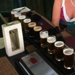 Beer sampler bar :-)
