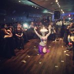Belly dance show Saturday night
