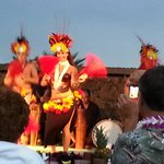 Sunset Luau hula dancers