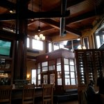 Pic 3 (right) of the interior of the 'lounge area' of one side of the restaurant/looking to entr