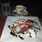 Apple Strudel, Espresso and Water
