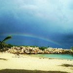 rainbow in the beach