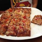 Super crunchy bacon cheese pizza