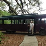Trolley that takes you around the plantation
