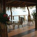 Vista desde el restaurante al oceano