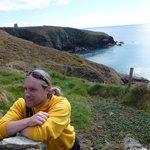 Ronan on the cliff walk