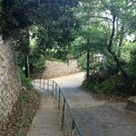 The steep hill to the B&B