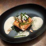 salmon with sea vegetables