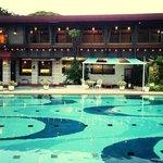 La piscina del Inn Seiryuso! un lugar maravilloso!!