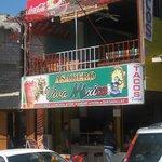 viva  mexico up the street form shirmp market