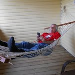 Hammock on our covered porch