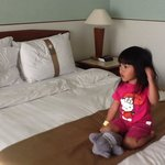 Little A in the hotel room