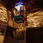 Light in reception area