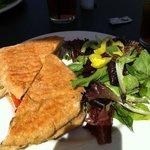 Ted's chicken pesto panini
