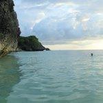 swimming near the cliffs