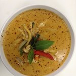 Red curry with veggies egg roll