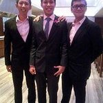 Left and Middle, wearing suits from crown tailor.