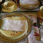 breakfast on silver platter!
