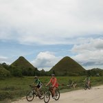 It's more fun to view the Chocolate Hills from a bike