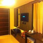 LCD tv & refrigerator & wardrobe & Dressing table