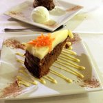 Coulant de chocolate y carrot cake