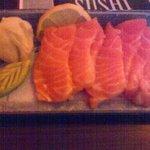 Beautifully presented Salmon Sashimi