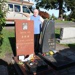 Ich am Grab von Bruce Lee