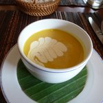 Lovely soup presentation