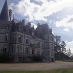 An unusual view of the Chateau