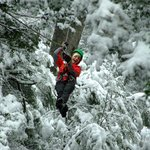 Si si , esta foto es real! Canopy y nieve a pleno!!!