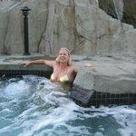 The hot tub near the spa