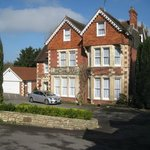 Front View of Tasburgh Hotel , set back a good way from the road