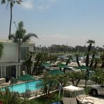 The pool then the bay