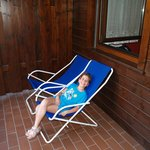 rilassarsi sul bancone dell'appartamento!