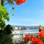 vista di Diano Marina dalla terrazza