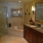 Master bathroom with double sink