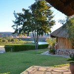 Well kept gardens and view of the Orange river!