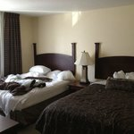 Two Queen beds with private full bathroom