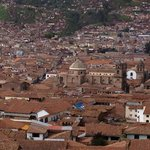 View of Cusco from street above Casa de Mama